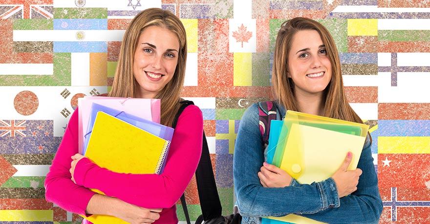 Studenter på språkresa
